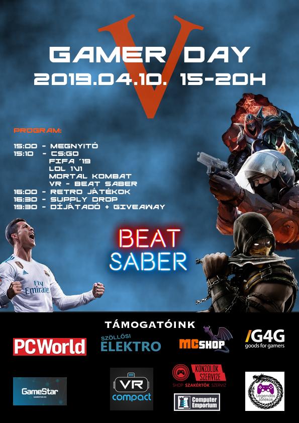 Gamer Day 2019 a KSZC Dráva Völgye Gimnáziumban